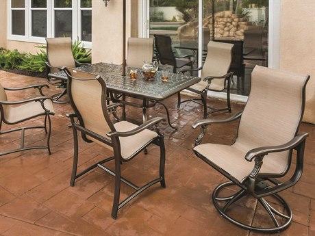 Tropitone Ravello Sling Aluminum Dining Set