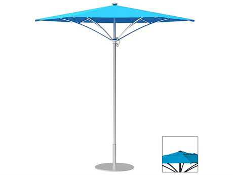 Tropitone Trace Aluminum 8' Hexagon Manual Lift Umbrella w/ Vent