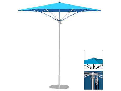 Tropitone Trace Aluminum 8' Hexagon Pulley Lift Umbrella w/ Vent