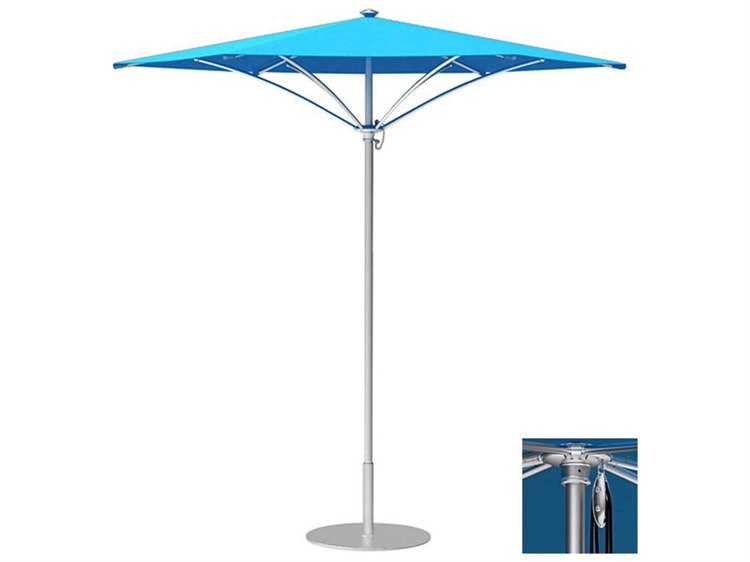 Tropitone Trace Aluminum 9' Hexagon Pulley Lift Umbrella PatioLiving