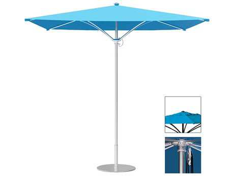 Tropitone Trace Aluminum 6' Square Pulley Lift Umbrella w/ Vent