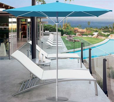 Tropitone Trace 8' Aluminum Square Umbrella