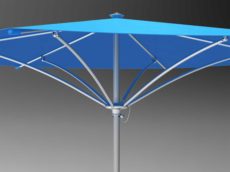 Tropitone Trace 8 Aluminum Square Umbrella Rs008ms