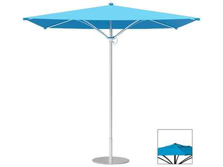 Tropitone Trace Aluminum 8' Square Manual Lift Umbrella w/ Vent