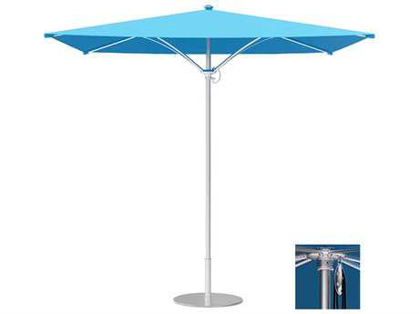 Tropitone Trace Aluminum 8' Square Pulley Lift Umbrella