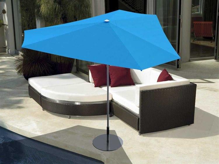 Tropitone Trace 10' Aluminum Triangle Umbrella PatioLiving