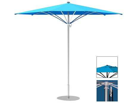 Tropitone Trace Aluminum 10' Triangular Pulley Lift Umbrella w/ Vent