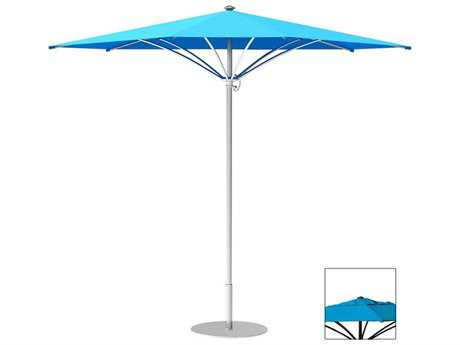 Tropitone Trace Aluminum 12' Triangular Manual Lift Umbrella w/ Vent