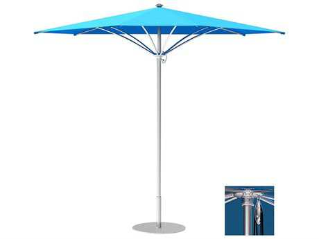 Tropitone Trace Aluminum 12' Triangular Pulley Lift Umbrella