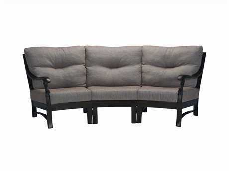 Tropitone Ravello Cushion Crescent Aluminum Sectional Sofa