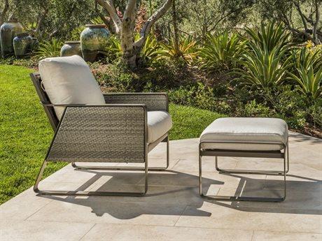 Tropitone Samba Cushion Woven Lounge Chair and Ottoman