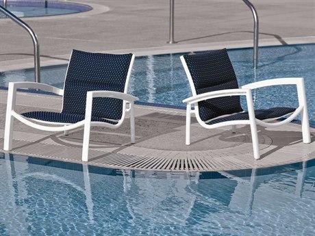 Tropitone South Beach Padded Sling Aluminum Lounge Set