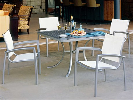 Tropitone South Beach Relaxed Sling Aluminum Dining Set