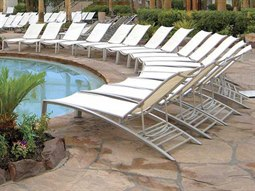South Beach Relaxed Sling Aluminum Lounge Set