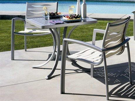 Tropitone South Beach Wave Aluminum Dining Set TPSBWBS