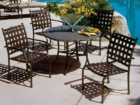 Tropitone Sorrento Cross Strap Extruded Aluminum Dining Set