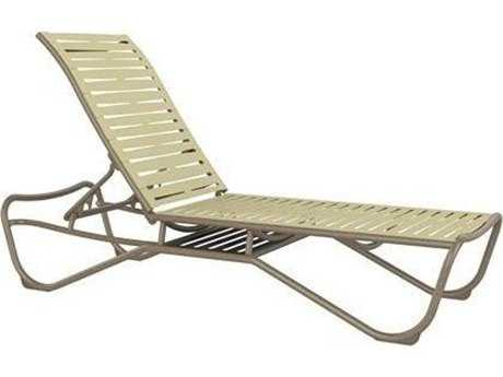 Tropitone Millennia Ribbon Segment Aluminum Armless Chaise Lounge with Shelf
