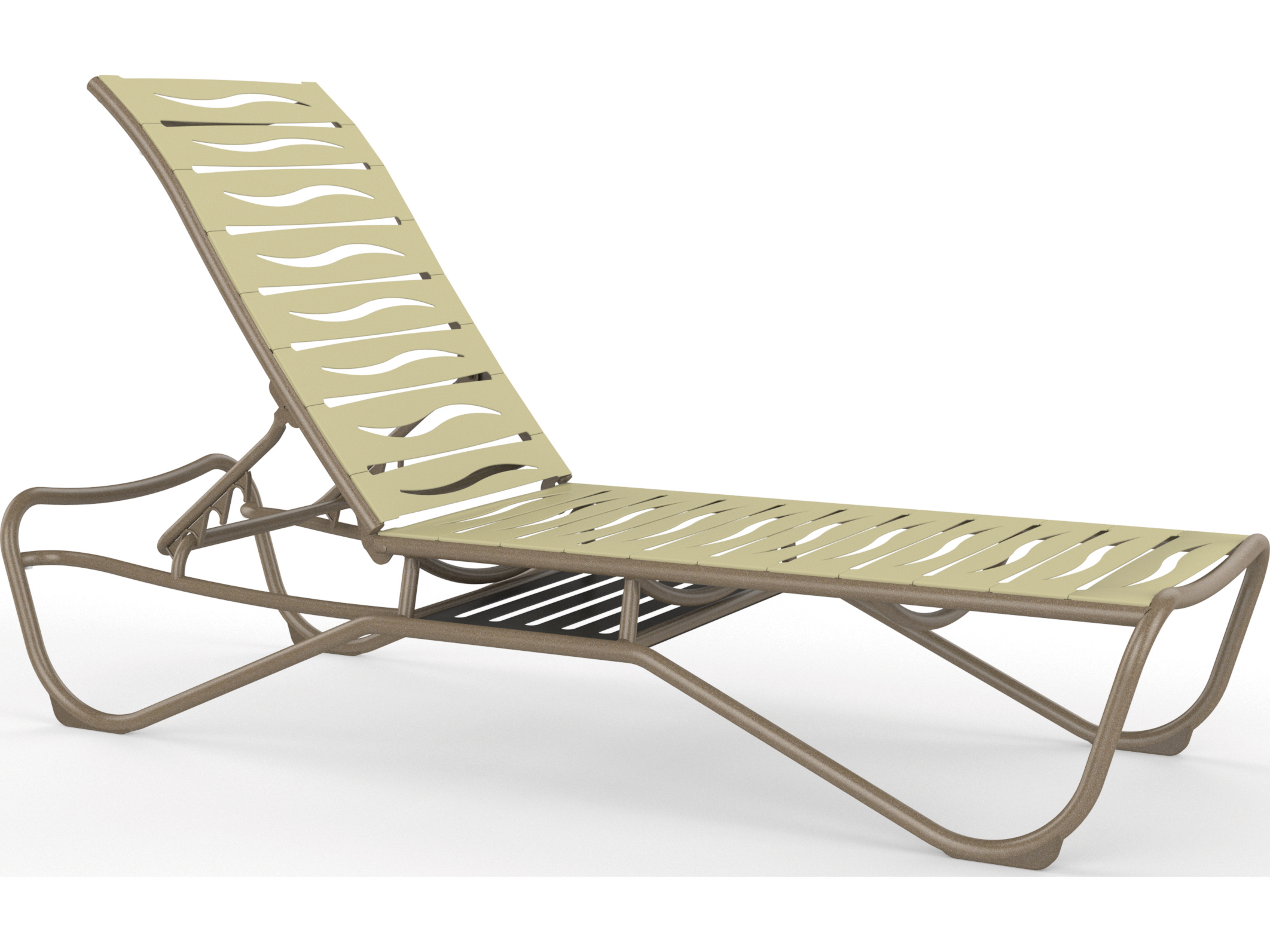 Tropitone millennia wave segment aluminum armless chaise for Chaise longue wave