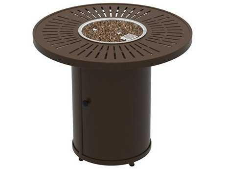 Tropitone La'Stratta Fire Pits - Manual Ignition  30 Round Fire Pit (15 1/2 round base)