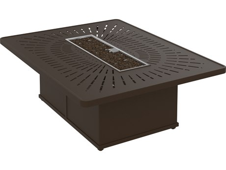 Tropitone La'Stratta Fire Pits - Manual Ignition 54 x 42 Rectangular Fire Pi (36 x 24 rectangular base)