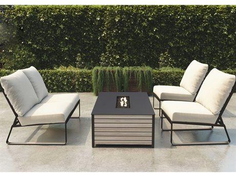 Tropitone Samba Cushion Aluminum Fire Pit Lounge Set