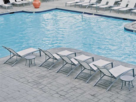 Tropitone South Beach Relaxed Sling Aluminum Lounge Set