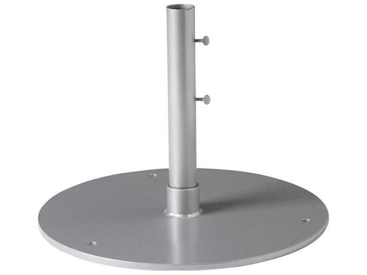Tropitone 24'' 60lb Steel Plate 9'' Sleeve 1.5'' Pole Base PatioLiving
