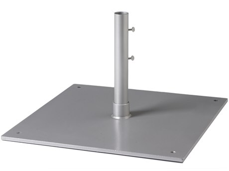 Tropitone 24'' 82lb Square Steel Plate 15'' Sleeve 1.5'' Pole Base