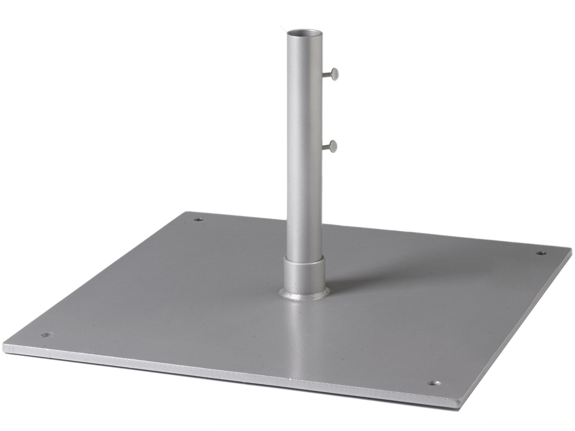Tropitone 24 82lb Square Steel Plate 15 Sleeve 1 5