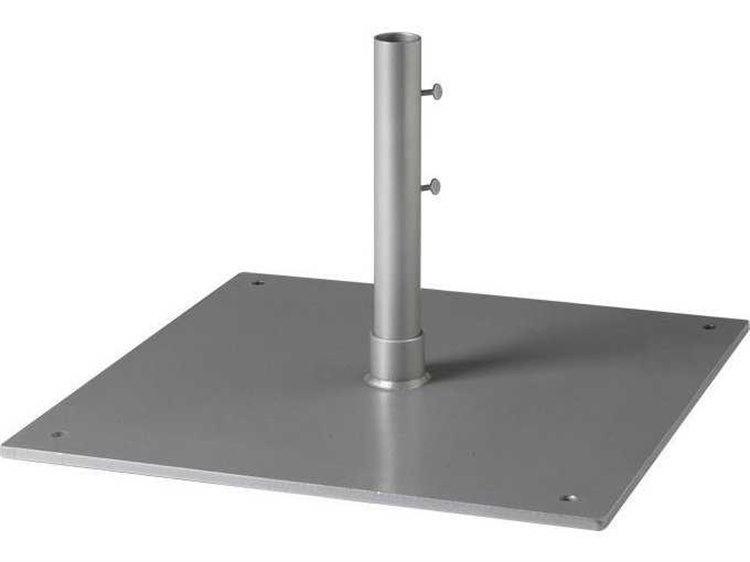 Tropitone 24'' 80lb Square Steel Plate 9'' Sleeve 1.5'' Pole Base PatioLiving