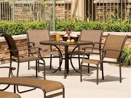 Tropitone Sorrento Relaxed Sling Aluminum Dining Set