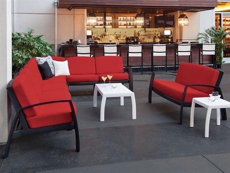Tropitone South Beach Cushion Aluminum Sectional Set