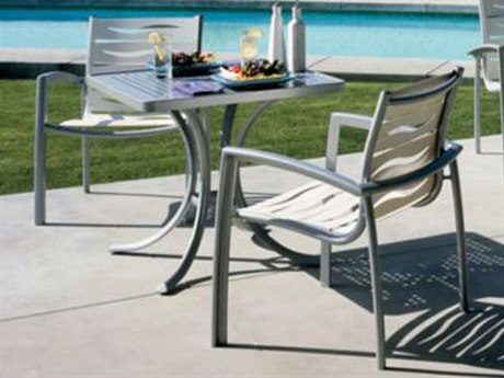 Tropitone South Beach Wave Segment Aluminum Bistro Set