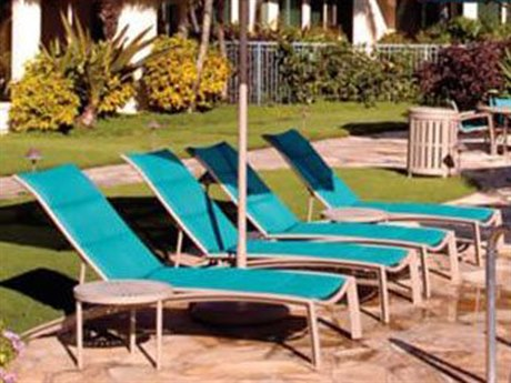 Tropitone South Beach Padded Sling Aluminum Lounge Set