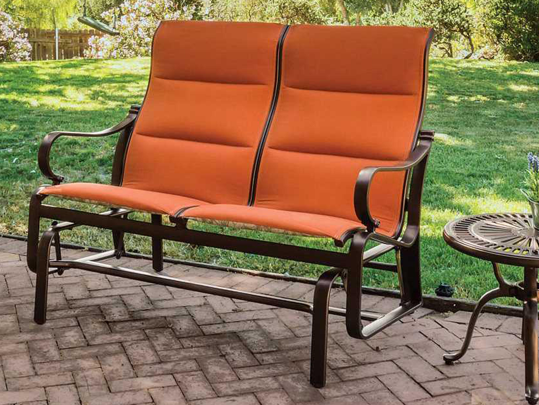 Tropitone torino padded sling aluminum lounge set for Chaise longue torino