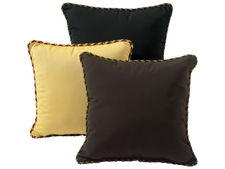 Tropitone 16''Wide Square Throw Pillow with Cord Welt PatioLiving