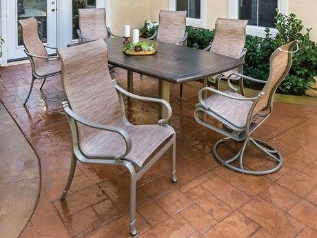 Tropitone Torino Sling Aluminum Dining Set