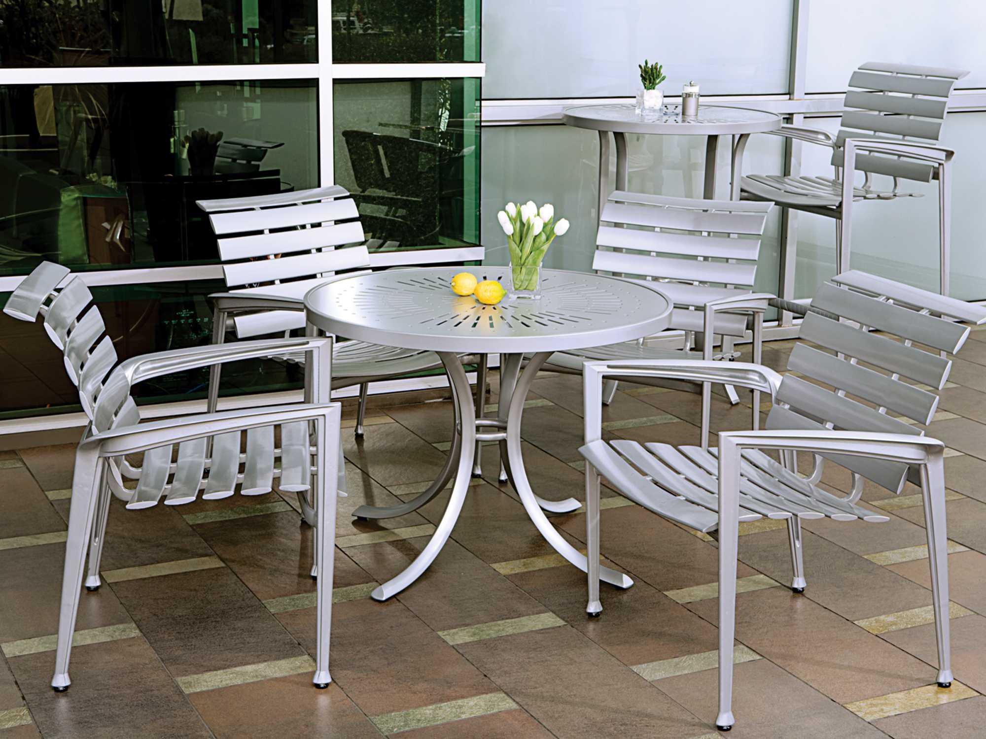 Tropitone Veer Cast Aluminum Dining Set Vrcds