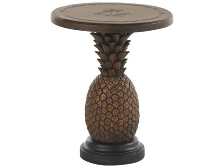 Tommy Bahama Outdoor Alfresco Living Aluminum Pineapple Table 18.75'' Round End Table