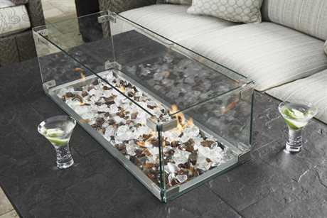 Tommy Bahama Outdoor Alfresco Living 31'' x 12.5'' Tempered Glass Flame Guard TR310092FPS