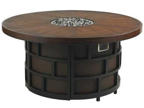 Tommy Bahama Outdoor Ocean Club Resort Aluminum 54'' Round Gas Fire Pit PatioLiving
