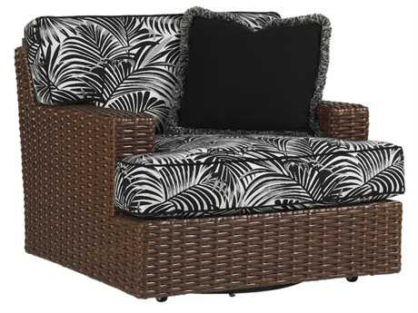 Tommy Bahama Outdoor Ocean Club Pacifica Wicker Swivel Lounge Chair