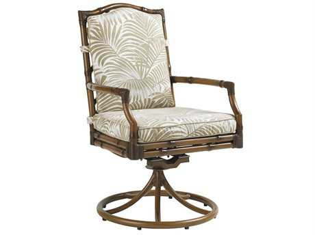 Tommy Bahama Outdoor Island Estate Veranda Aluminum Swivel Rocker Dining Chair PatioLiving