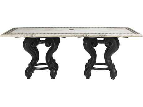 Tommy Bahama Outdoor Kingstown Sedona Cast Aluminum 84'' x 44'' Rectangular Dining Table