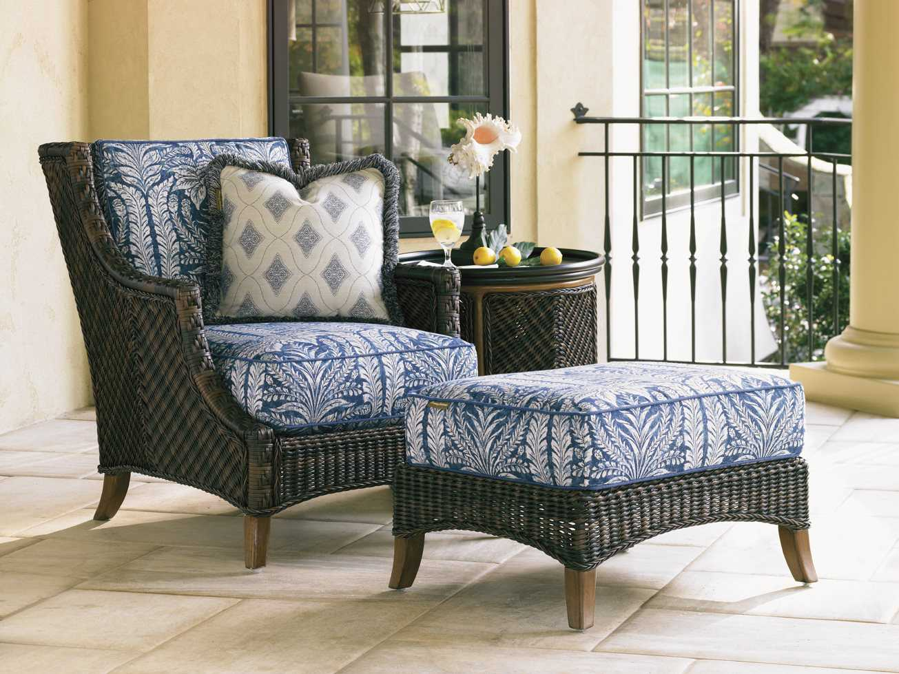 Tommy Bahama Outdoor Island Estate Lanai Wicker Lounge