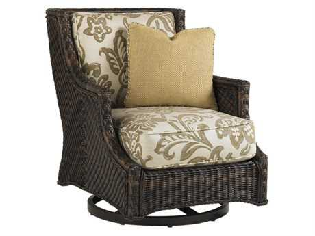 Tommy Bahama Outdoor Island Estate Lanai Wicker Swivel Lounge Chair PatioLiving