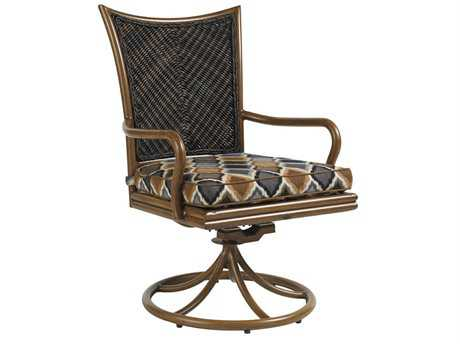 Tommy Bahama Outdoor Island Estate Lanai Wood Swivel Rocker Dining Chair PatioLiving