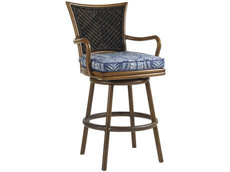 Tommy Bahama Outdoor Island Estate Lanai Wood Swivel Bar Stool PatioLiving