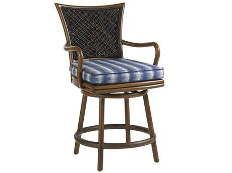 Tommy Bahama Outdoor Island Estate Lanai Wood Swivel Counter Stool