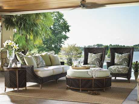 Tommy Bahama Outdoor Island Estate Lanai Wicker Lounge Set